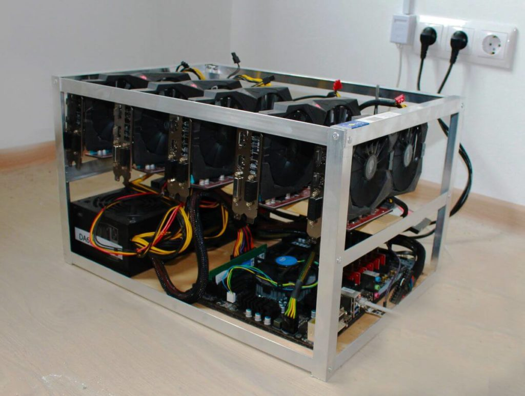 ферма для майнинга на Radeon RX 570 8GB