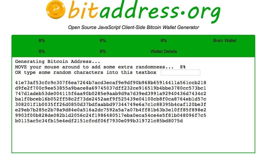Пример генерации Биткоин-адреса
