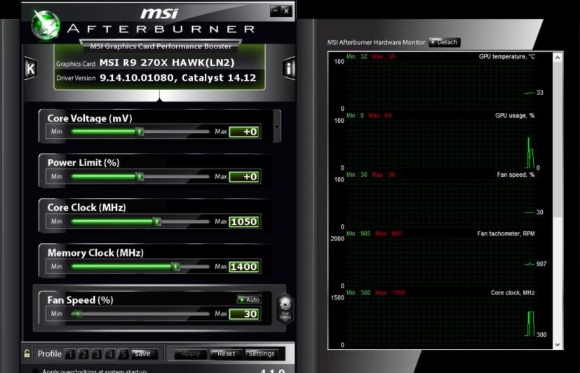Разгон видеокарты с помощью MSI Afterburner