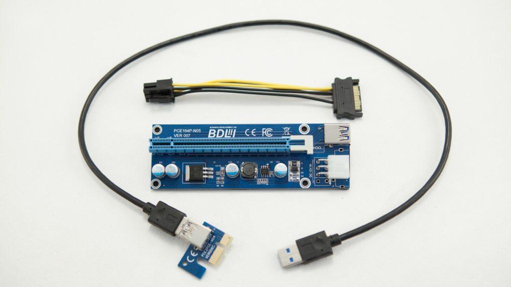 Райзер на кабелях USB 3.0