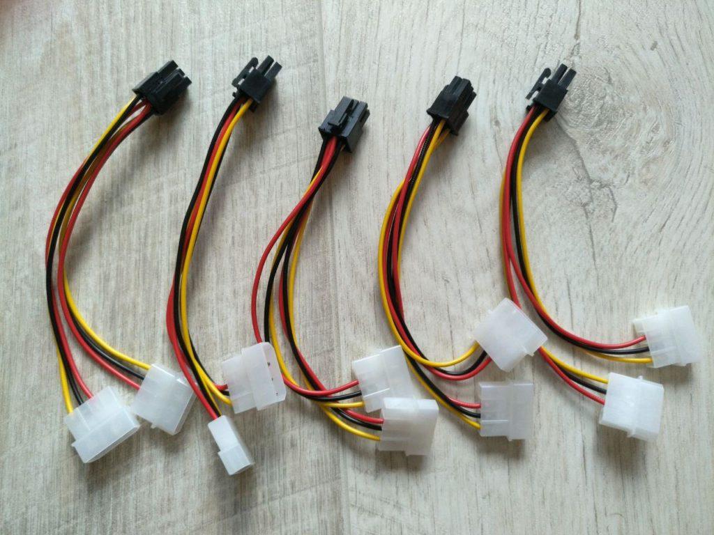 Комплектные проводники для дополнительного питания райзеров