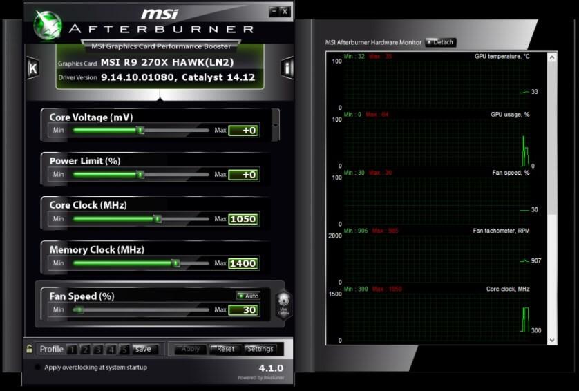 Энергопотребление RX 470 — 120 W