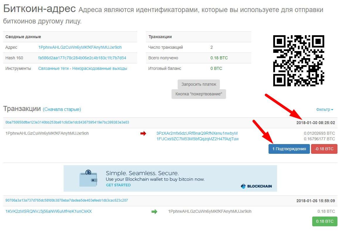 Как проверить биткоин-транзакцию