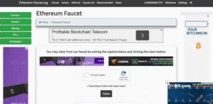 Сайт Ethereum Faucet