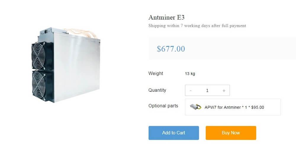 ASIC Bitmain AntMiner E3
