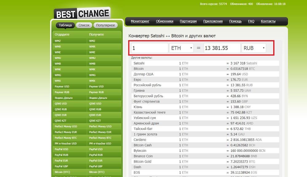 Сервис от Bestchange.ru