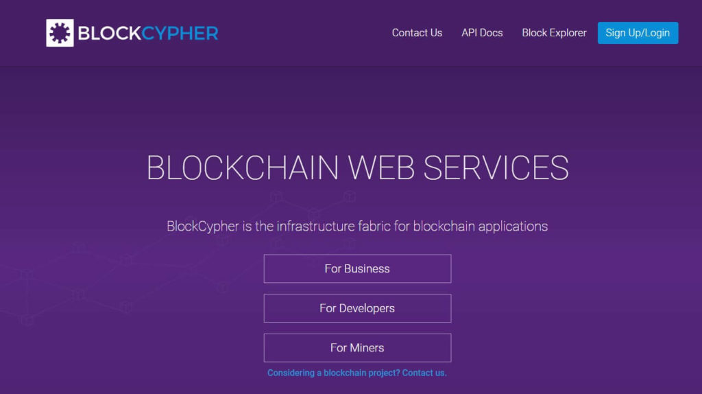 Сервис BlockCypher