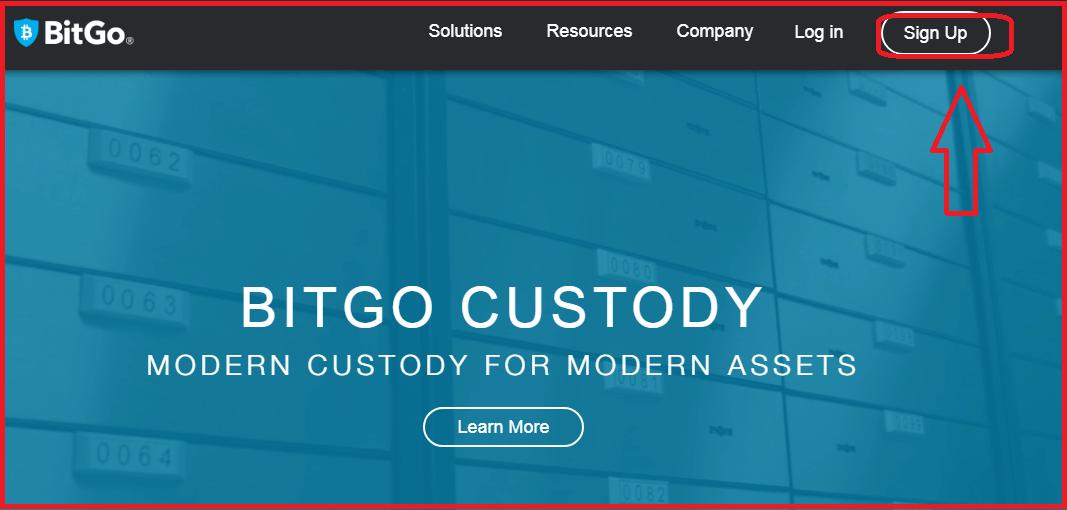 Регистрация веб-кошелька BitGo: шаг 3