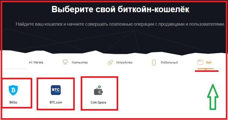 Web-кошельки на bitcoin.org