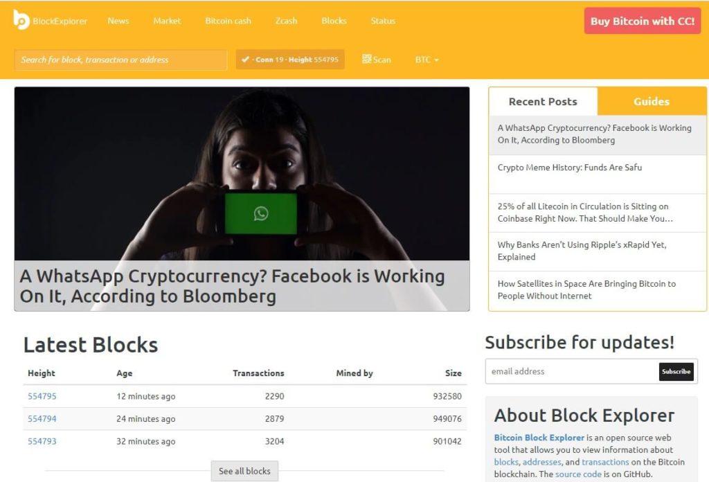 Платформа Block Explorer