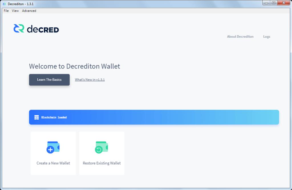 Как создать официальный кошелек для монет DCR: шаг 6