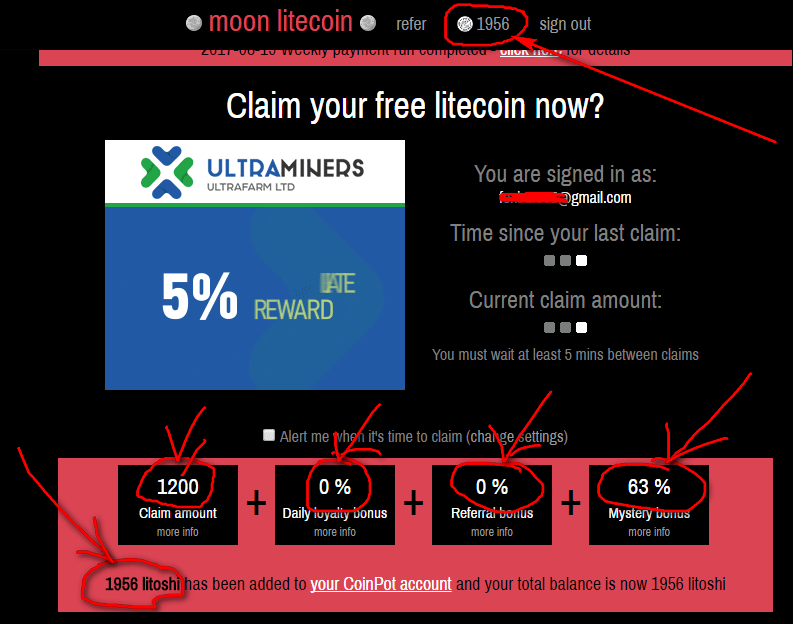 Варианты заработка и доход на Moon Litecoin