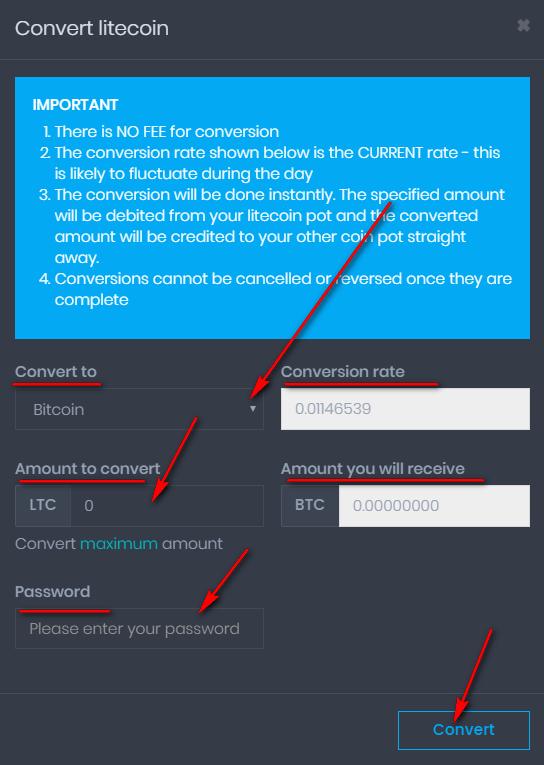Конвертация криптовалют