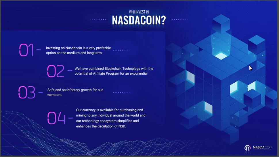 Особенности проекта Nasdacoin (NSD)