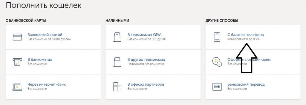 Транзакция через сайт ПС