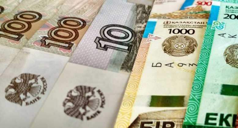 Перевод тенге в рубли