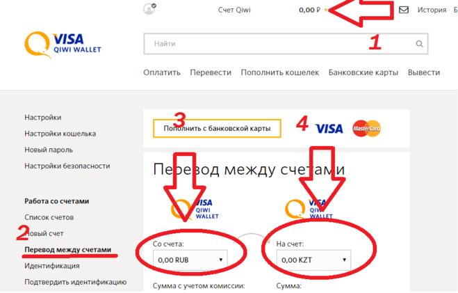 Обмен валют через приложение