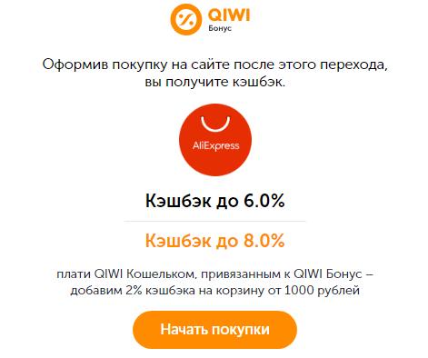 Покупка товаров с использованием QIWI Бонус: шаг 4