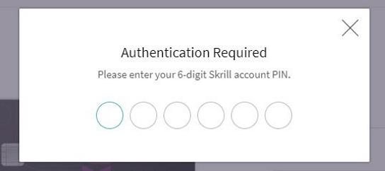 Получение Skrill-карты: шаг 4