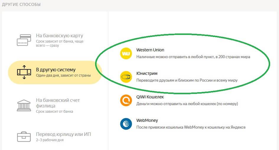 Перевод Western Union