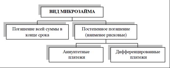 Разновидности микрокредитов