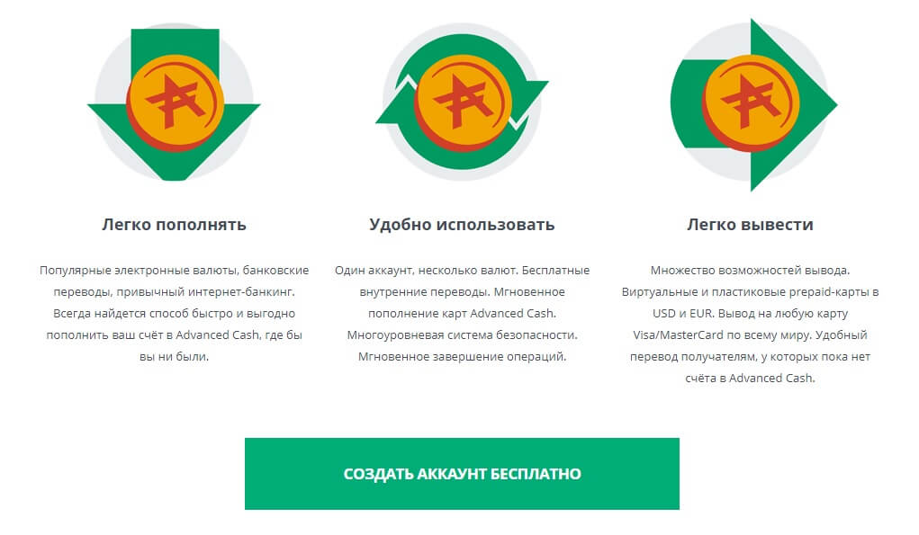Регистрация в сервисе AdvCash: шаг 1