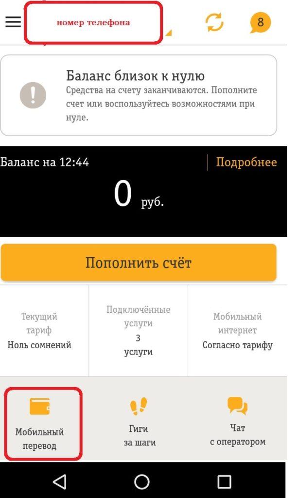 Инструкция для мобильного приложения