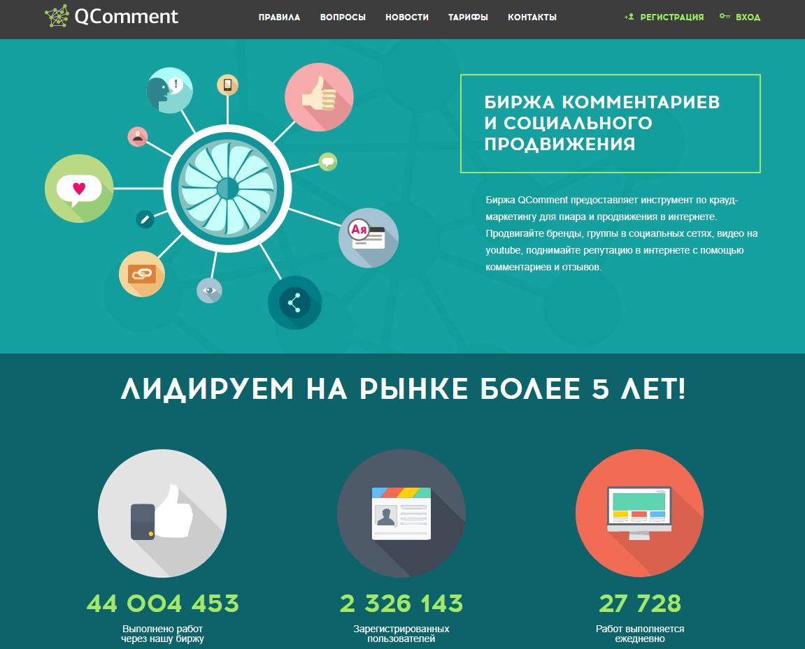 Биржа QComment.ru