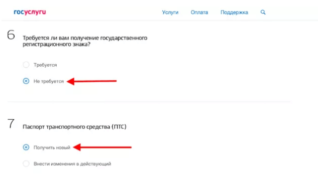 Заполнение электронного заявления, шаг 9
